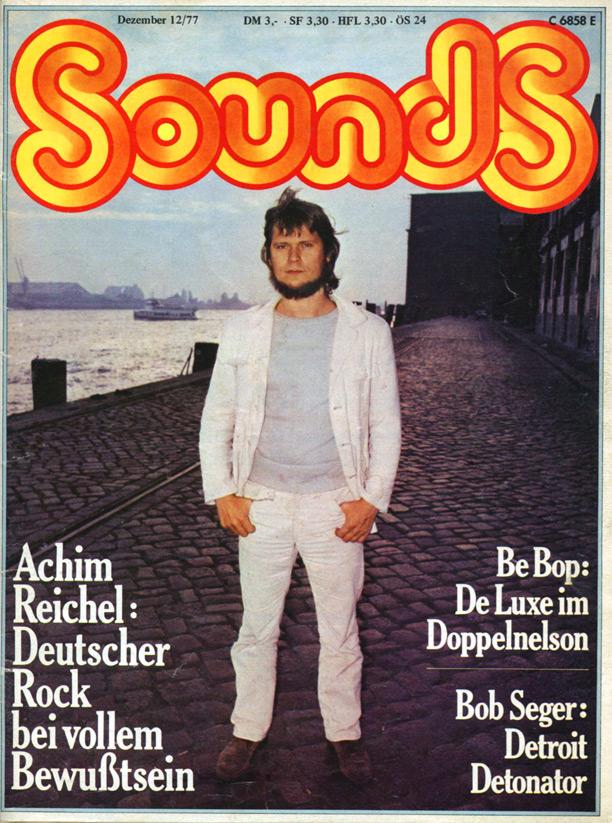 Portada de Sounds, diciembre de 1977.